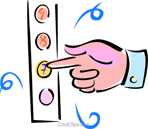 hand pushing elevator buttons royalty free vector clip art rh search coolclips com
