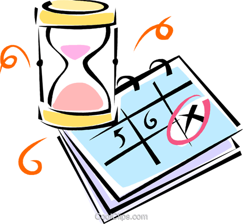 Clessidra e calendario immagini grafiche vettoriali for Clipart calendario