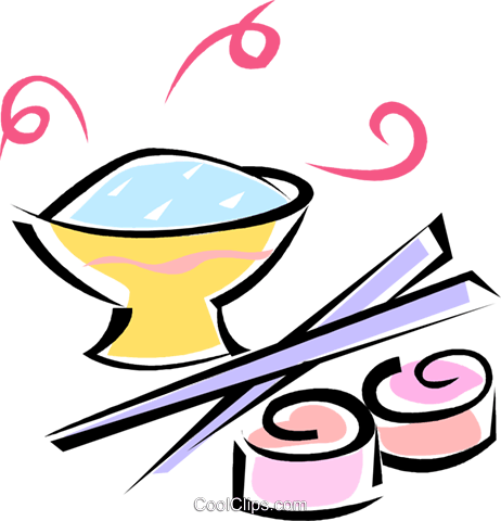 Asian Food Royalty Free Vector Clip Art Illustration Vc062215