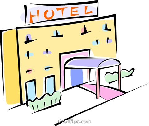 hotel Royalty Free Vector Clip Art illustration vc062246