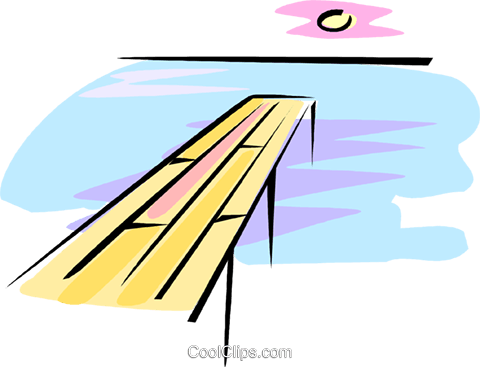 ocean pier Royalty Free Vector Clip Art illustration vc062255