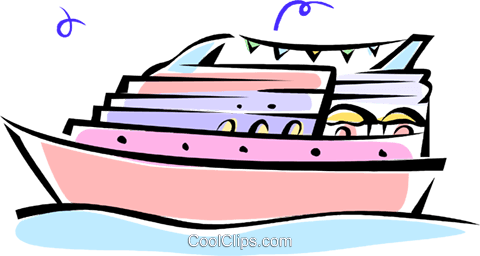 cruise boat Royalty Free Vector Clip Art illustration vc062276