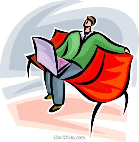 man working on laptop Royalty Free Vector Clip Art illustration vc062293