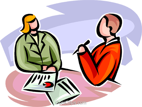 man and woman about to sign contract Royalty Free Vector Clip Art illustration vc062297