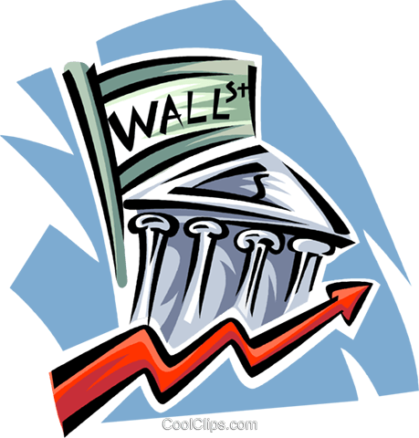 wall street/financial district Royalty Free Vector Clip Art illustration vc062337