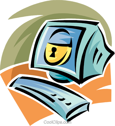 computer security Royalty Free Vector Clip Art illustration vc062353