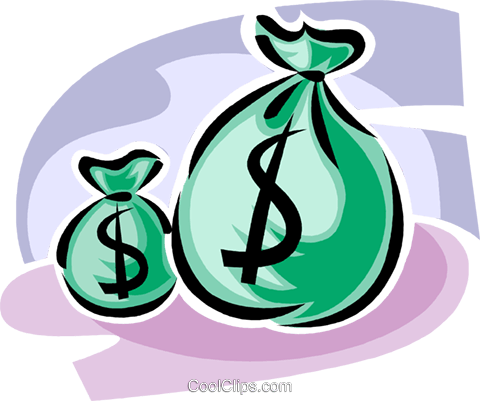 bags of money Royalty Free Vector Clip Art illustration vc062369