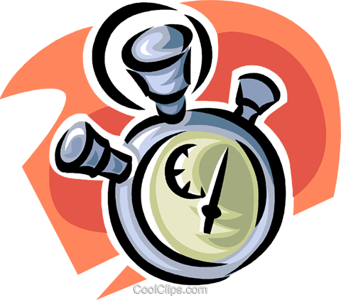 stopwatch Royalty Free Vector Clip Art illustration vc062371