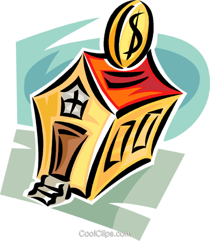 investing in property Royalty Free Vector Clip Art illustration vc062372