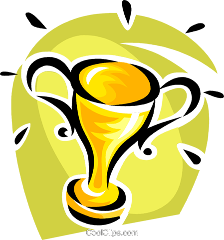 trophy Royalty Free Vector Clip Art illustration vc062398