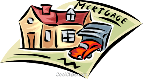 contract with home and vehicle Royalty Free Vector Clip Art illustration vc062432