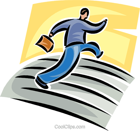 man running Royalty Free Vector Clip Art illustration vc062448