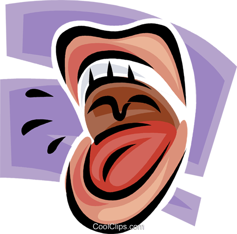 open mouth Royalty Free Vector Clip Art illustration vc062454