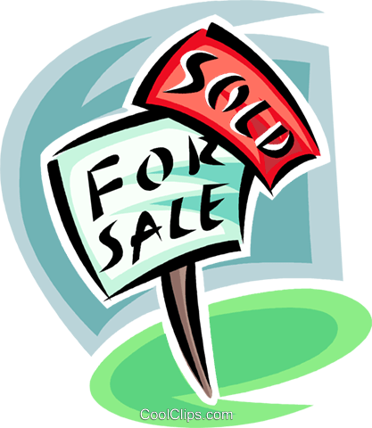 For sale sign, realty Royalty Free Vector Clip Art illustration vc062456