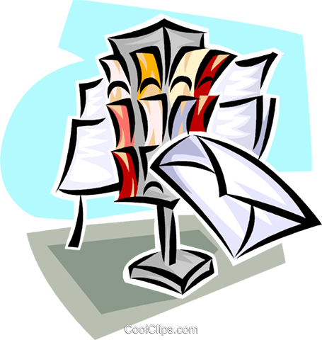 letter delivery Royalty Free Vector Clip Art illustration vc062465
