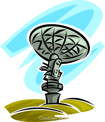 satellite dish Royalty Free Vector Clip Art illustration vc062471
