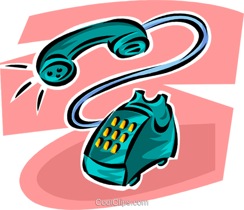 telephone Royalty Free Vector Clip Art illustration vc062476