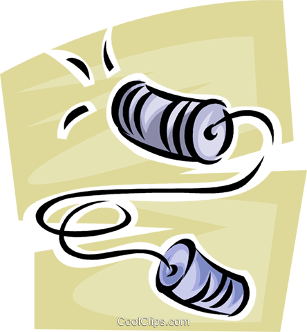 cup and string telephone Royalty Free Vector Clip Art illustration vc062478