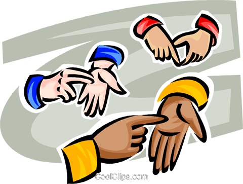 different hands Royalty Free Vector Clip Art illustration vc062479