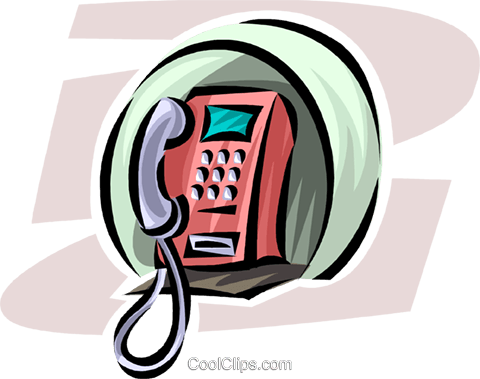 telephone Royalty Free Vector Clip Art illustration vc062480