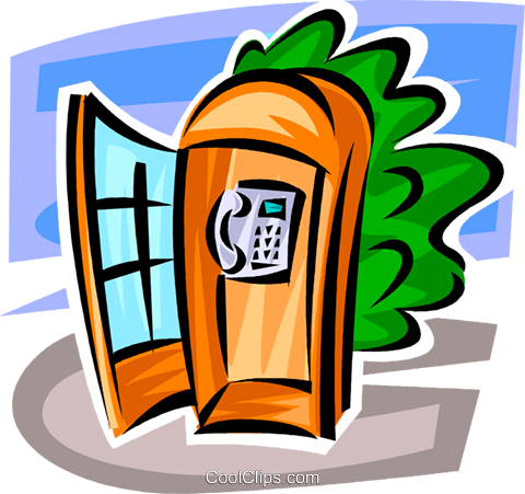public telephone Royalty Free Vector Clip Art illustration vc062481