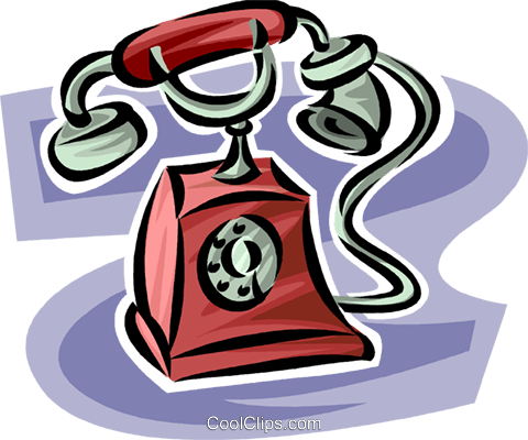 antique telephone Royalty Free Vector Clip Art illustration vc062491