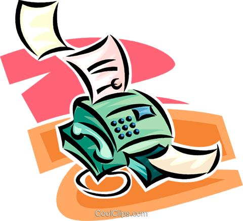 fax machine Royalty Free Vector Clip Art illustration vc062509