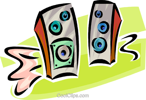 stereo speakers Royalty Free Vector Clip Art illustration vc062520