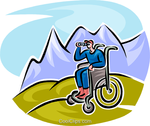 looking through binoculars Royalty Free Vector Clip Art illustration vc062540