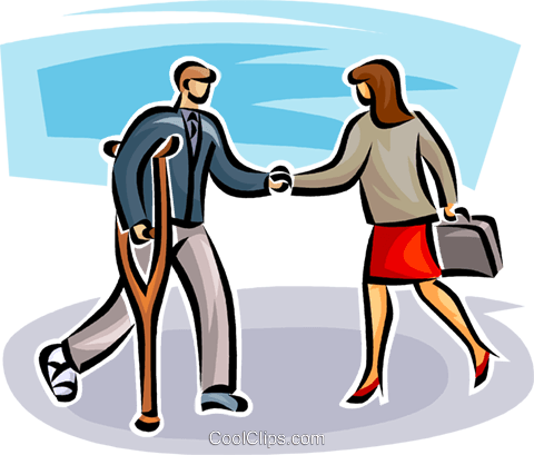 two business people shaking hands Royalty Free Vector Clip Art illustration vc062547