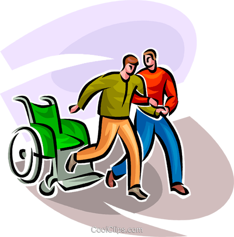 One man helping another man Royalty Free Vector Clip Art illustration vc062548