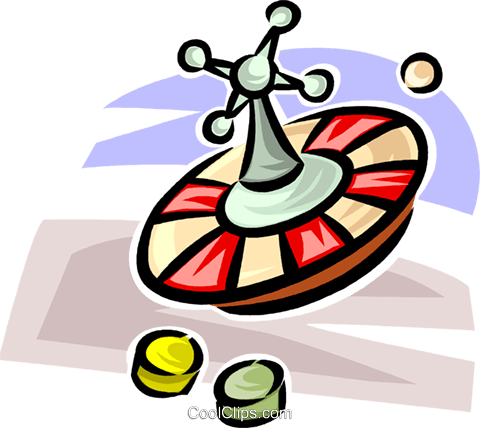 roulette wheel Royalty Free Vector Clip Art illustration vc062555