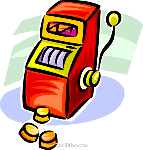 slot machine Royalty Free Vector Clip Art illustration vc062556