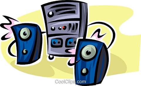 stereo system Royalty Free Vector Clip Art illustration vc062564