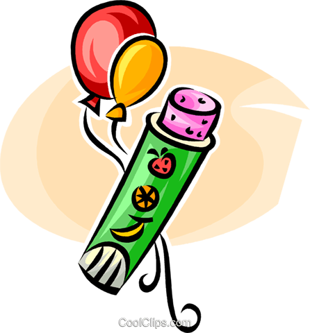 balloons and candy Royalty Free Vector Clip Art illustration vc062568