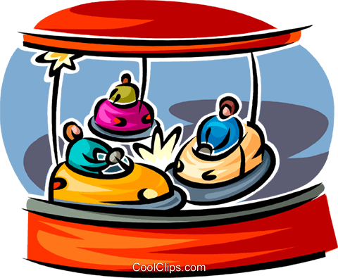 bumper cars Royalty Free Vector Clip Art illustration vc062573