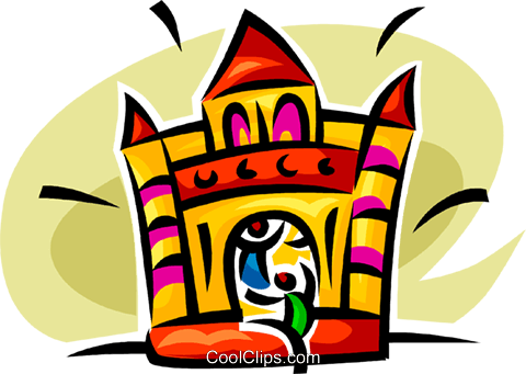 fun house Royalty Free Vector Clip Art illustration vc062582
