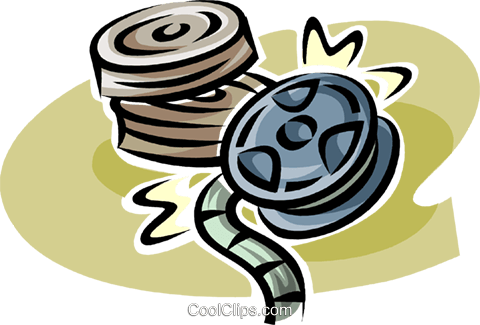 movie reels Royalty Free Vector Clip Art illustration vc062587