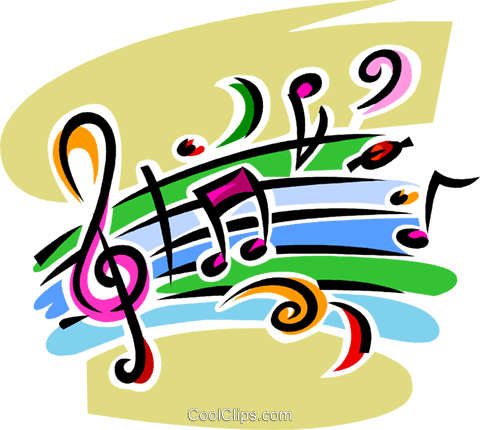 musical notation Royalty Free Vector Clip Art illustration vc062598