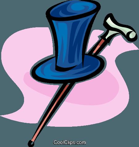 cappello a cilindro e bastone da passeggio immagini grafiche vettoriali  clipart 1fd659042381