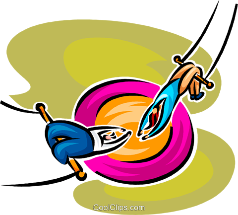 trapeze artist Royalty Free Vector Clip Art illustration vc062607