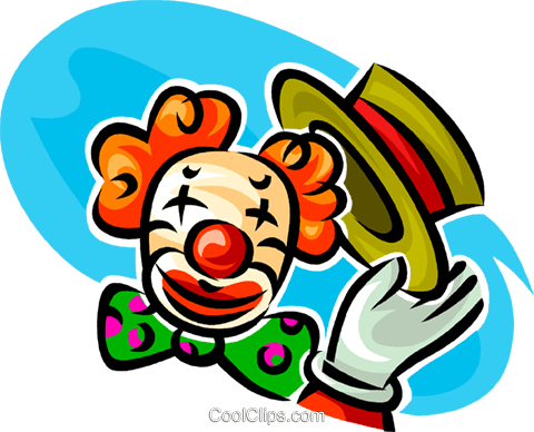 Funny clown Royalty Free Vector Clip Art illustration vc062610