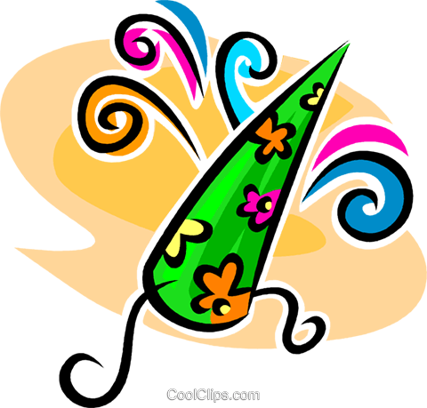 wizard hat Royalty Free Vector Clip Art illustration vc062611