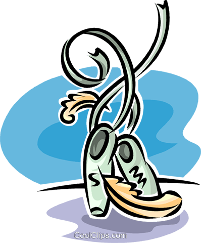 ballet slippers Royalty Free Vector Clip Art illustration vc062612