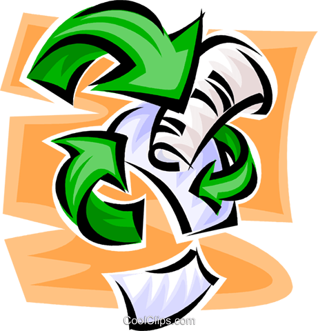 recycle Royalty Free Vector Clip Art illustration vc062628