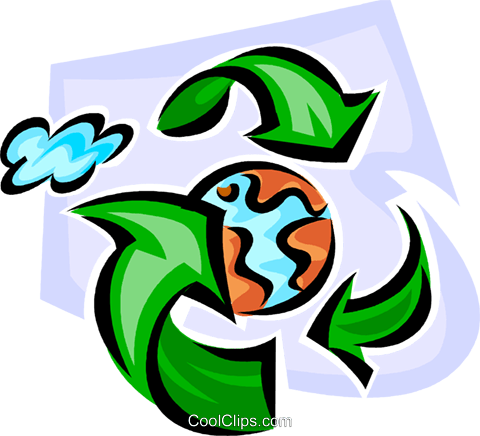 recycle to save the earth Royalty Free Vector Clip Art illustration vc062632