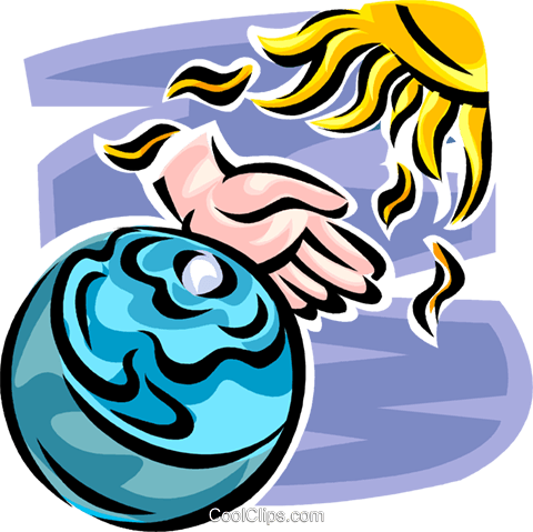 Planet Earth Royalty Free Vector Clip Art illustration vc062639