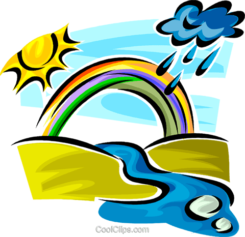 Rainbows Royalty Free Vector Clip Art illustration vc062642