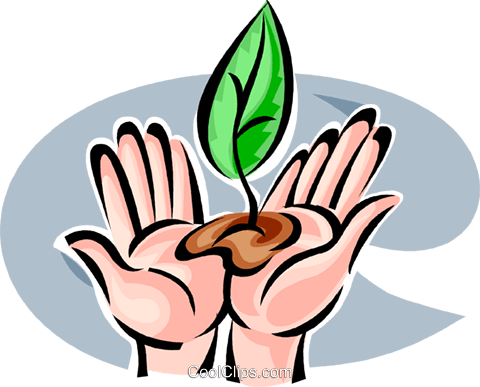 Seeds and Planting Royalty Free Vector Clip Art illustration vc062648