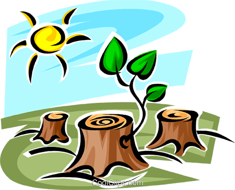 Forestry and Logging Royalty Free Vector Clip Art illustration vc062661
